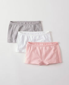 Girlshort Unders 3 Pack In Organic Cotton With Str