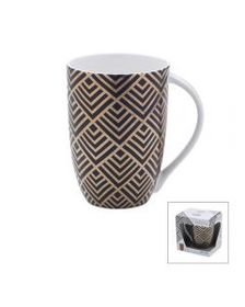 Diamond Geo Black Mug