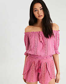 AE Off-The-Shoulder Tie Up Top