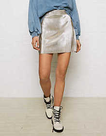Don't Ask Why Metallic Skirt