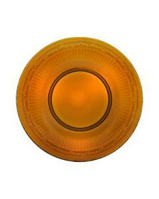 Amber Glass Salad Plate