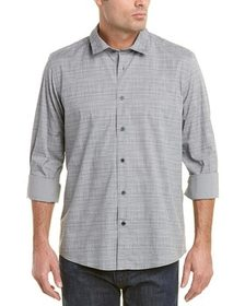 Ike Behar Space Dye Check Woven Shirt~1010026084
