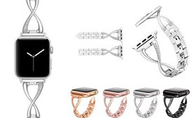 For Apple Watch Series 1/2/3/4 Stainless Steel Bra