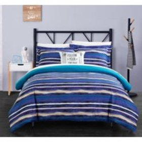  Chic Home Chona 3-Piece Reversible Duvet Cover S