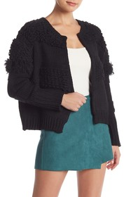 Do + Be Textured Long Sleeve Open Front Cardigan