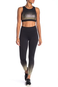 C & C California Metallic Ombre Hem Leggings