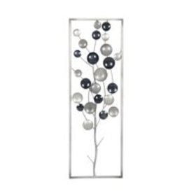 Decmode Contemporary Metal Abstract Tree Framed Wa