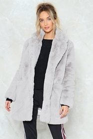 Surfin' Bird Faux Fur Coat