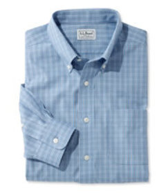 Wrinkle-Free Pinpoint Oxford Shirt, Long-Sleeve Sl