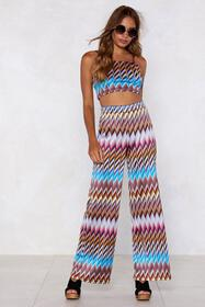 Heading in Our Direction Chevron Crop Top and Pant