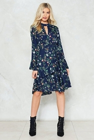 Spring into Action Floral Dress