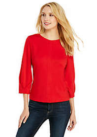 Three-Quarter Sleeve Ponte Top