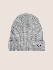 FOIL COATED WOOL-BLEND EMOJI BEANIE