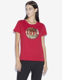TWO-WAY SEQUIN LOVE TEE