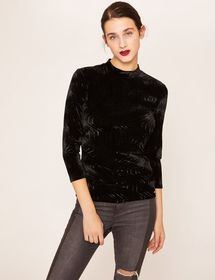 OPTIC WAVE VELET MOCKNECK TOP