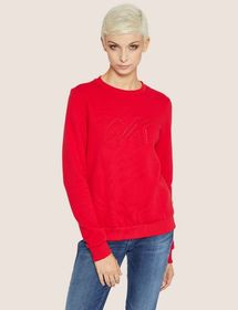EMBROIDERED OUTLINE SCRIPT SWEATSHIRT TOP