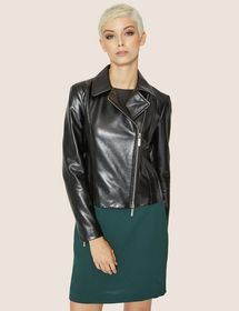 METALLIC FAUX-LEATHER MOTO