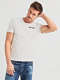 Embroidered Snow Heather Tee