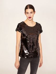 SHEER SEQUIN TEE
