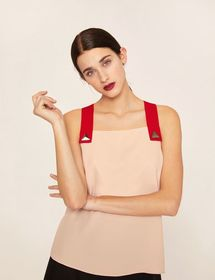 PYRAMID STUD PINAFORE TOP
