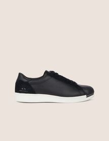 LEATHER AND SUEDE LOW-TOP SNEAKER