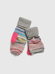 Crazy Stripe Convertible Mittens
