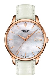 Tissot Women's Tradition Croc Embossed Leather Wat