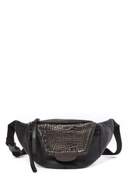 Kooba Panama Croc Embossed Leather Belt Bag