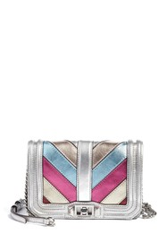 Rebecca Minkoff Small Love Patchwork Leather Cross