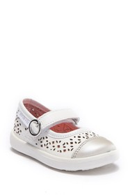 Stride Rite Poppy White Mary-Jane Shoe (Toddler)
