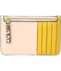 Tory Burch Color Block Top Zip Card Case