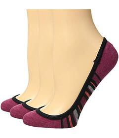 Feetures Hidden Super Low Stripe Socks 3-Pair Pack