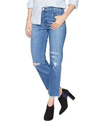 J Brand Wynne High-Rise Crop Straight Jeans in Nav