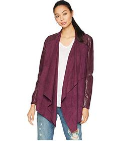 Blank NYC Drape Front Jacket in Cabernet