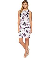 Calvin Klein Print Sheath Dress w/ Seams