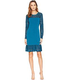 MICHAEL Michael Kors Fabric Mix Long Sleeve Dress