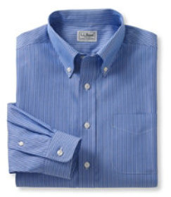 Wrinkle-Free Pinpoint Oxford Cloth Shirt, Slightly