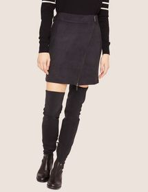 ASYMMETRICAL FAUX-SUEDE SKIRT
