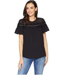 MICHAEL Michael Kors Lace Trim Short Sleeve Top