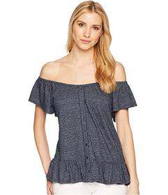 Lucky Brand Textured Off the Shoulder Top