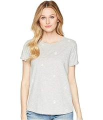 Lucky Brand All Over Embroidered Daisies Tee