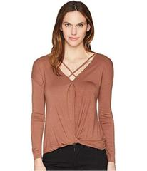 Wrangler Long Sleeve Knit Crisscross Neckline