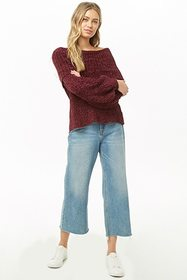Chenille Off-the-Shoulder Sweater
