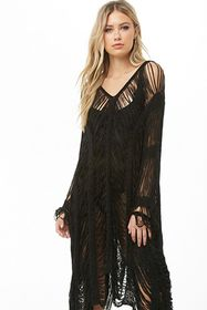 Sheer Tiered Poncho