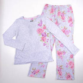 Plus Size Laura Ashley® Long Sleeve Faded Floral P