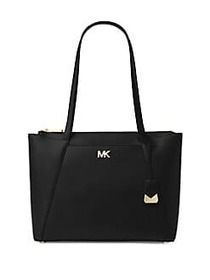 Maddie Classic Leather Tote BLACK
