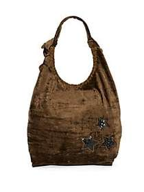 Embellished Hobo Bag OLIVE