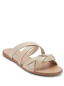 Scarlett Strappy Leather Sandals IVORY