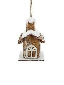 Holiday Charms House Ornament TAN