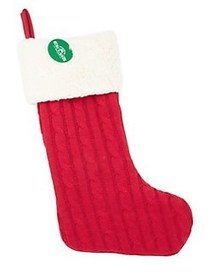 Cable-Knit Stocking RED